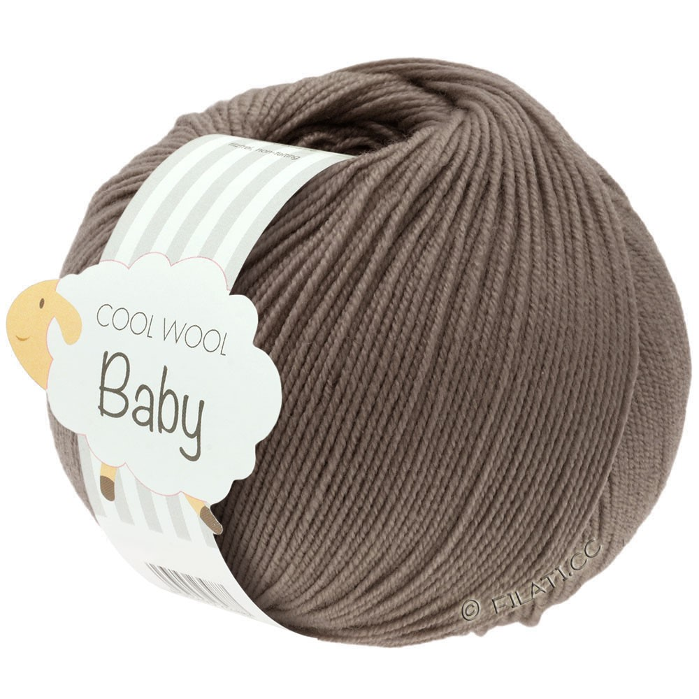 Lana Grossa COOL WOOL Baby Uni/Degradé | 211-gråbrun