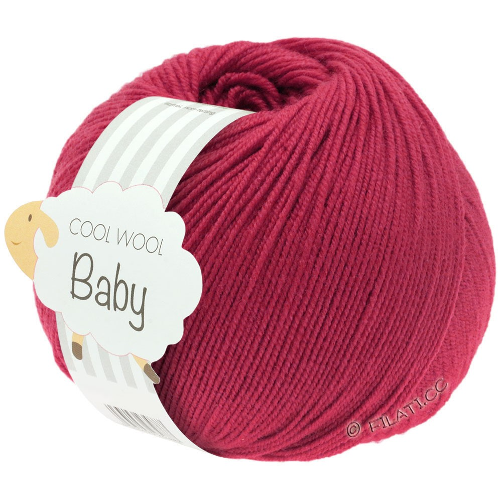 Lana Grossa COOL WOOL Baby Uni/Degradé | 220-kardinal rød