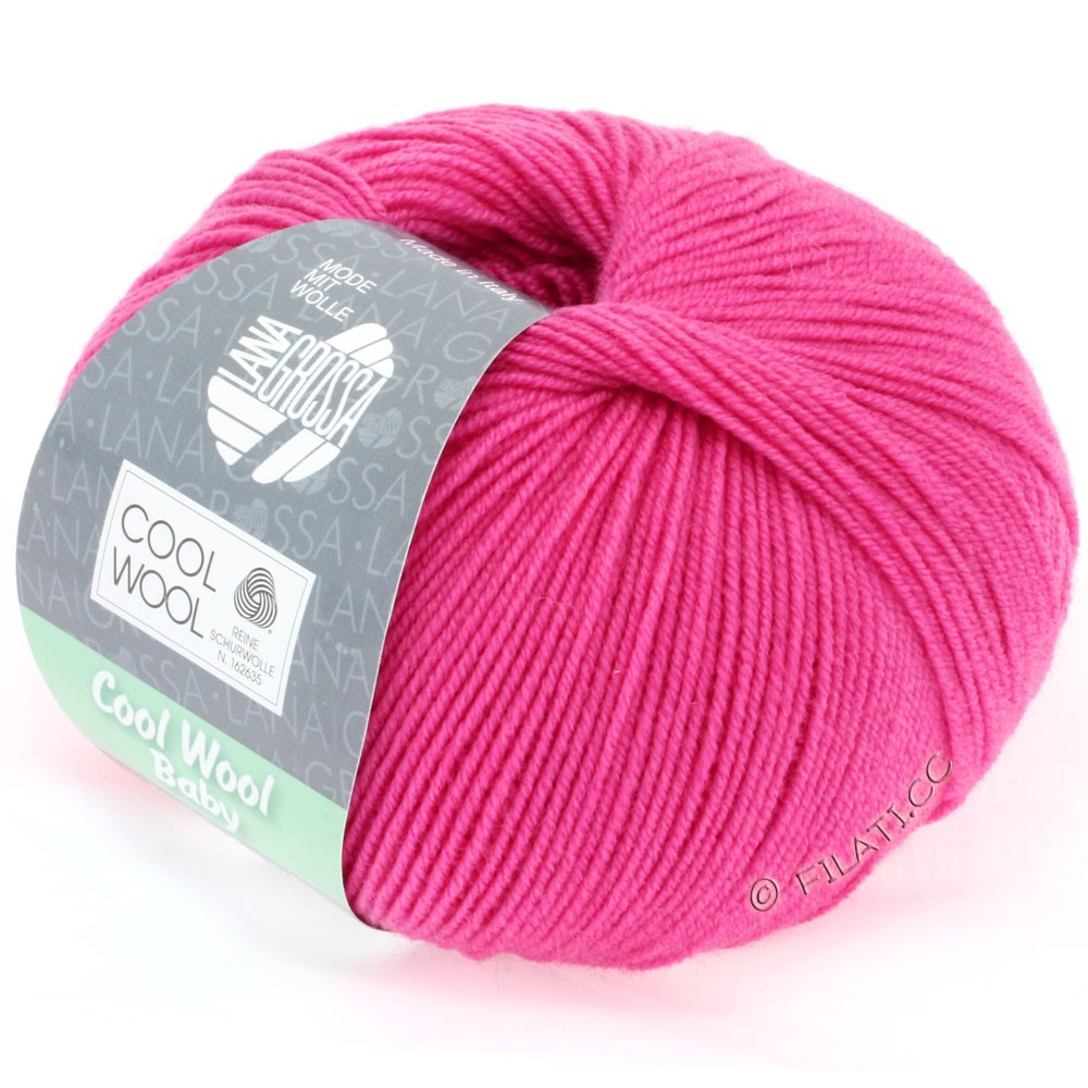 Lana Grossa COOL WOOL Baby Uni/Degradé | 225-pink