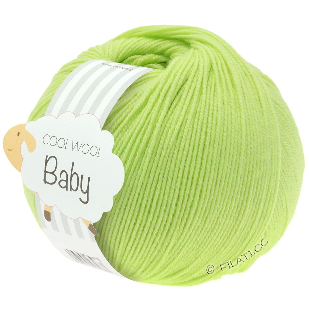 Lana Grossa COOL WOOL Baby Uni/Degradé | 228-lime