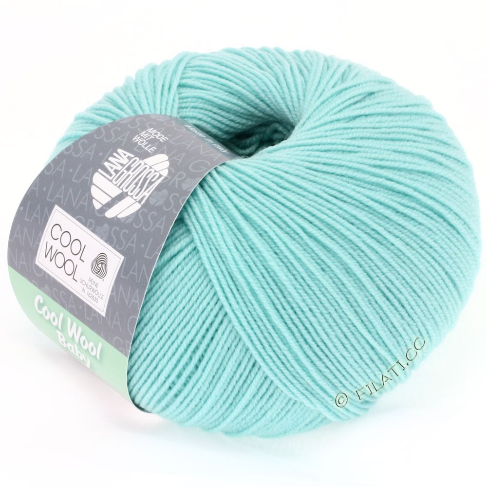 Lana Grossa COOL WOOL Baby Uni/Degradé | 230-lyseturkis