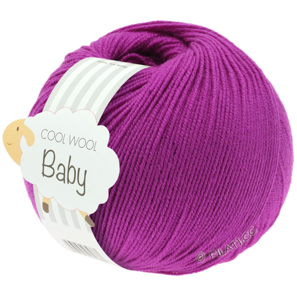 Lana Grossa COOL WOOL Baby Uni/Degradé | 236-cyklamen