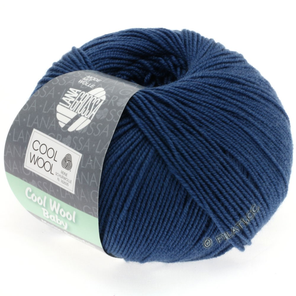 Lana Grossa COOL WOOL Baby | 243-mørkeblå