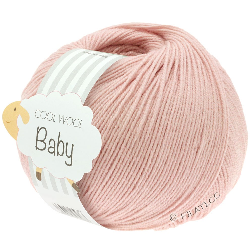 Lana Grossa COOL WOOL Baby Uni/Degradé | 246-pudder rosa