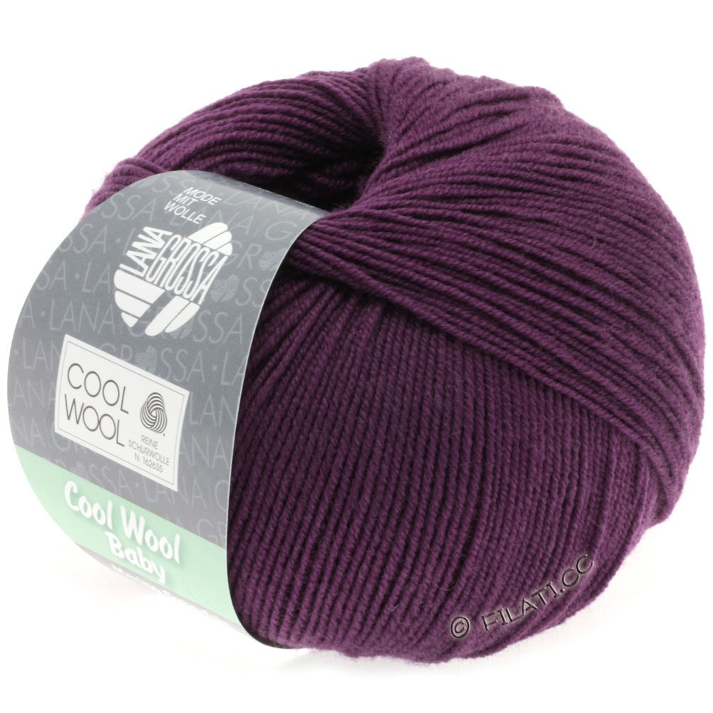 Lana Grossa COOL WOOL Baby Uni/Degradé | 248-mørk violet