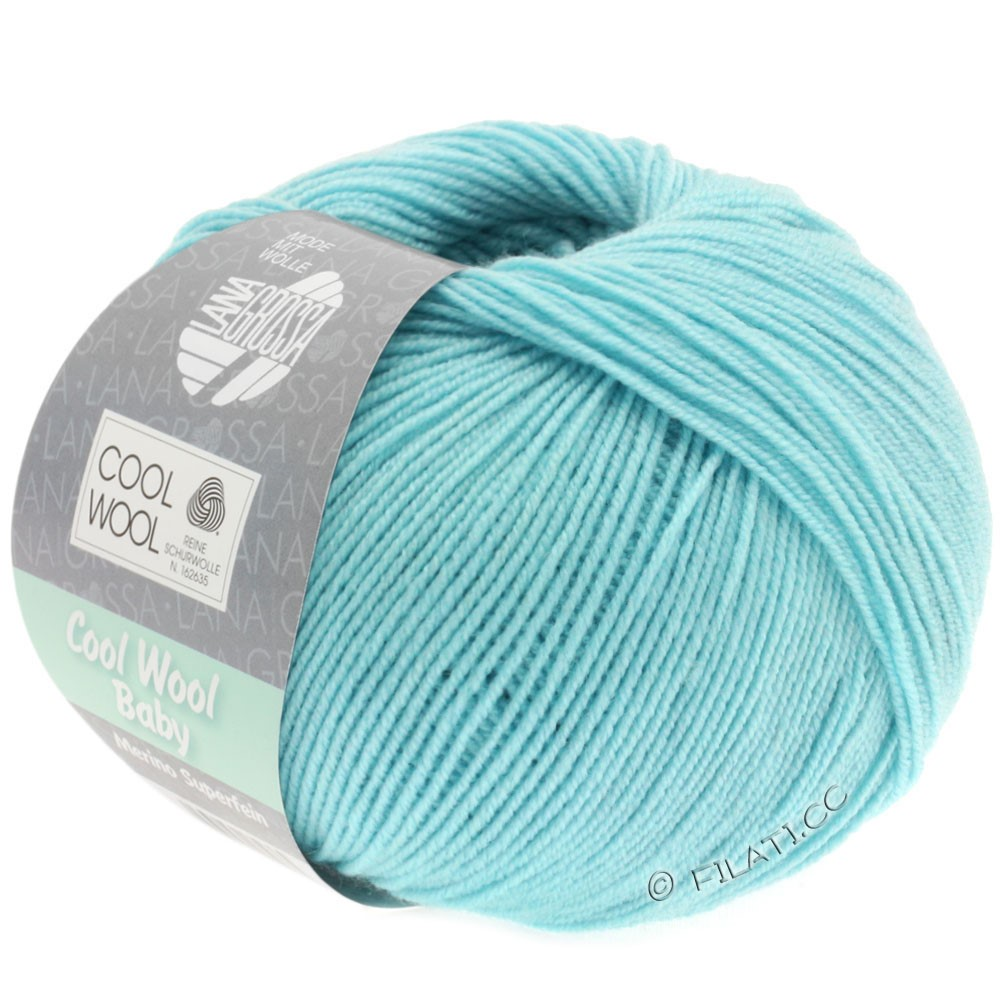 Lana Grossa COOL WOOL Baby Uni/Degradé | 253-isblå