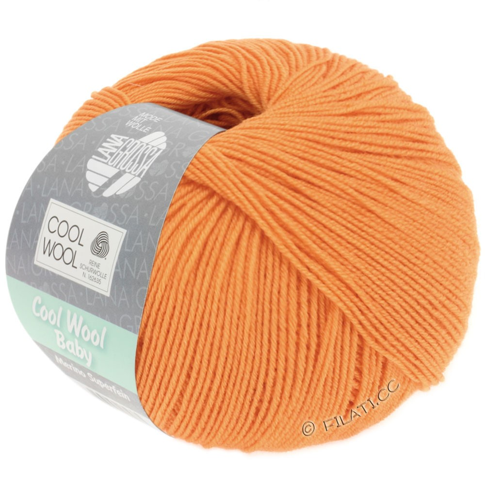 Lana Grossa COOL WOOL Baby Uni/Degradé | 260-lysorange