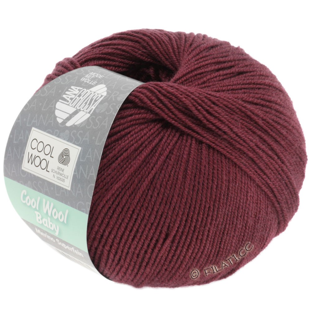 Lana Grossa COOL WOOL Baby Uni/Degradé | 262-burgund