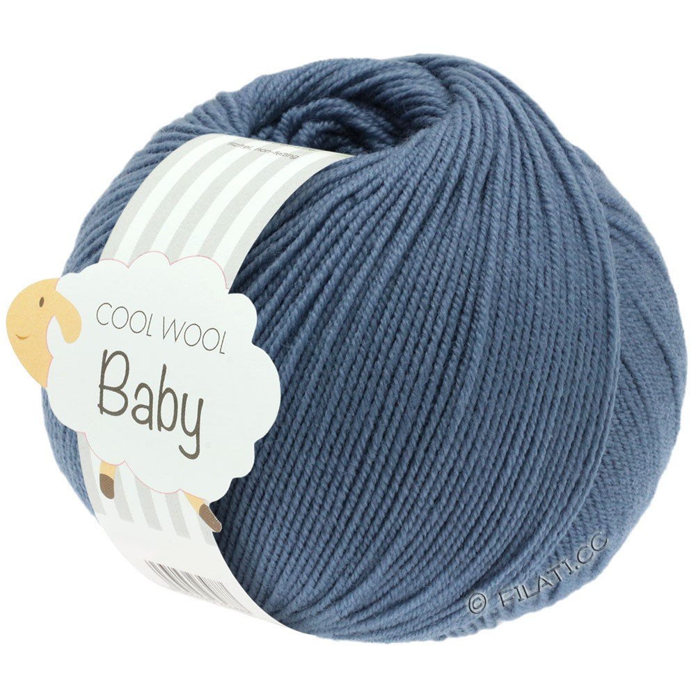 Lana Grossa COOL WOOL Baby Uni/Degradé | 263-dueblå