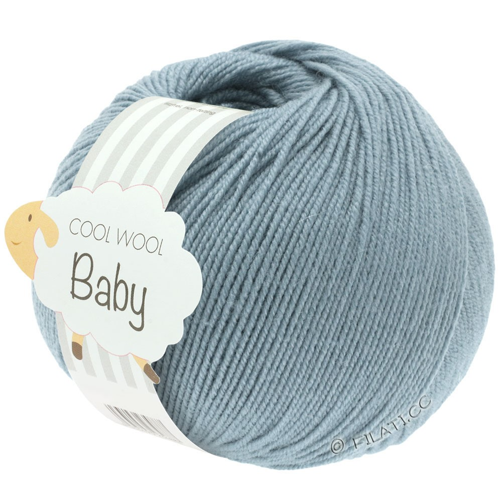 Lana Grossa COOL WOOL Baby Uni/Degradé | 264-gråblå