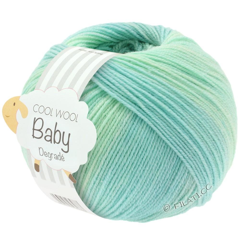Lana Grossa COOL WOOL Baby Uni/Degradé | 502-hvidgrøn/pastelturkis/lysegrøn/pastelblå