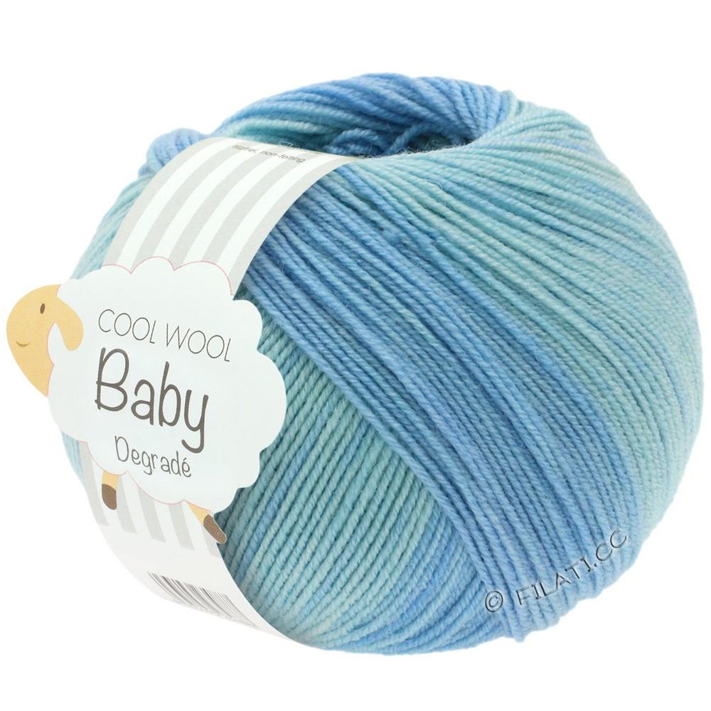 Lana Grossa COOL WOOL Baby Uni/Degradé | 503-blegblå/sartblå/lyseblå/anemone