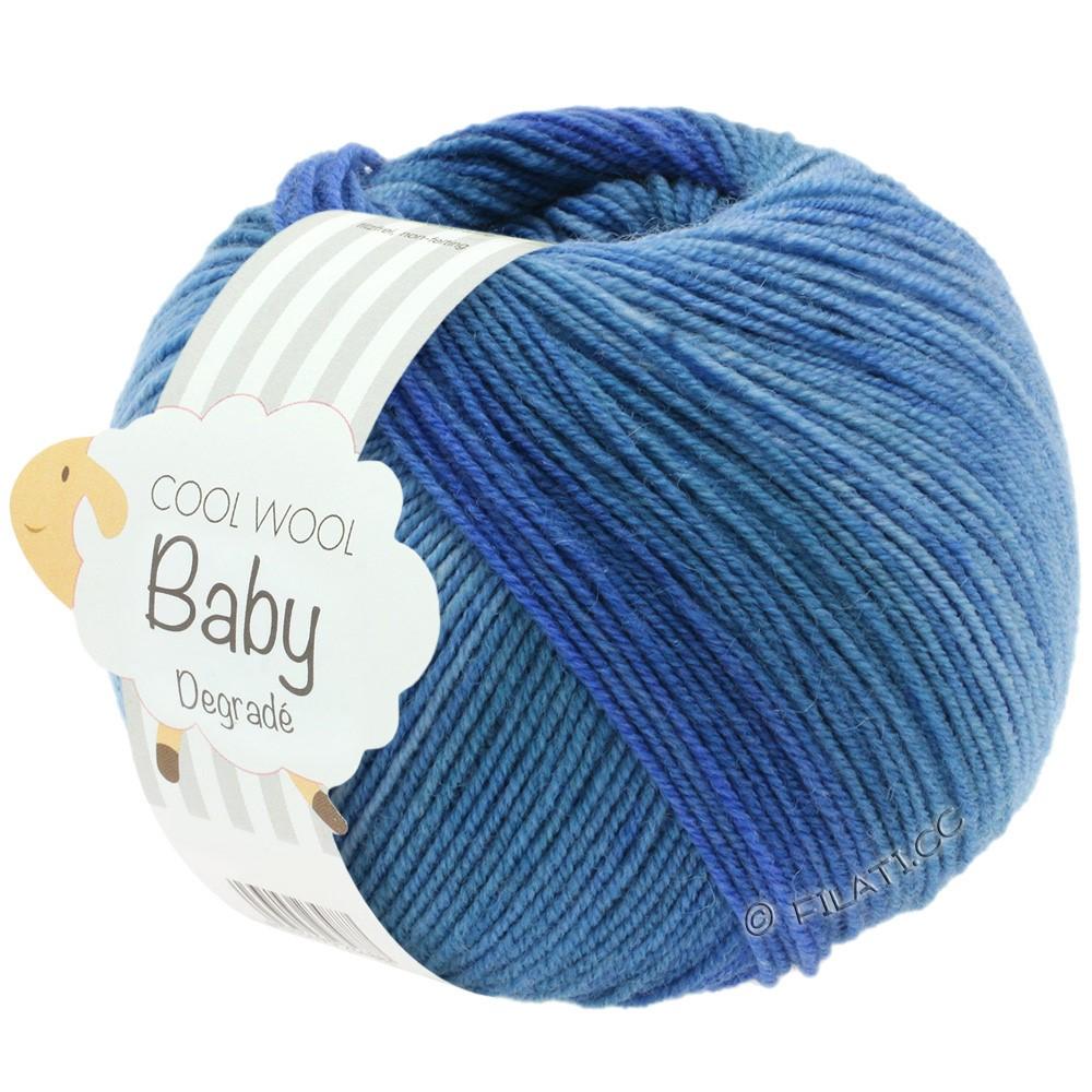 Lana Grossa COOL WOOL Baby Uni/Degradé | 504-jeans/gennemsnit blå/mørkeblå