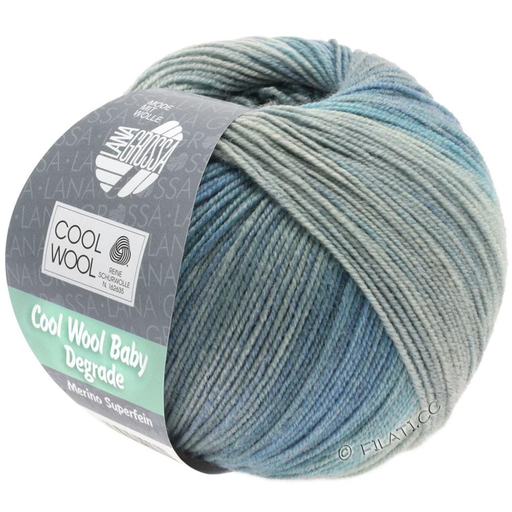 Lana Grossa COOL WOOL Baby Uni/Degradé | 509-lysegrå/gennemsnit grå/blågrå