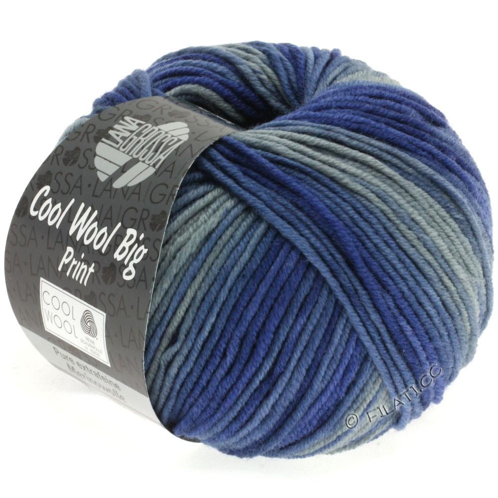 Lana Grossa COOL WOOL Big Uni/Melange/Print | 3002-mørkegrå/gråblå/natblå/blå violet