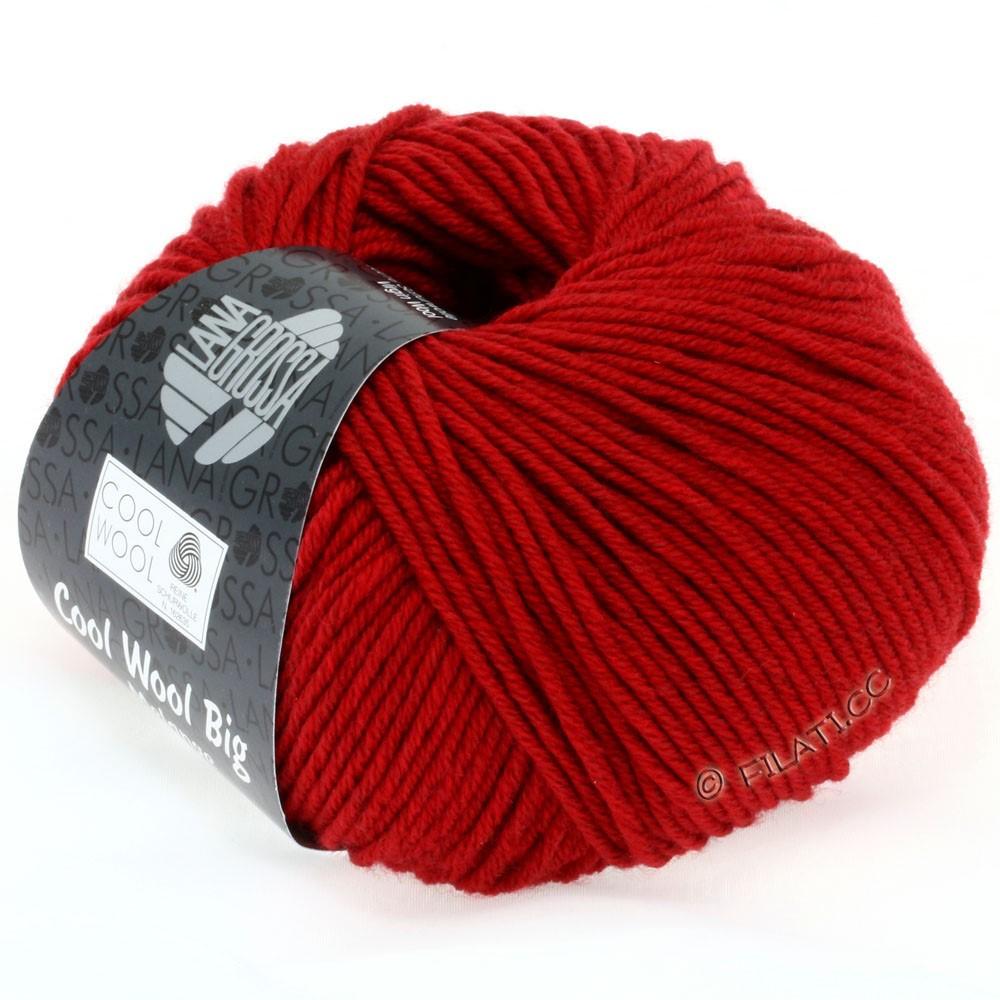 Lana Grossa COOL WOOL Big  Uni/Melange | 0302-rød meleret