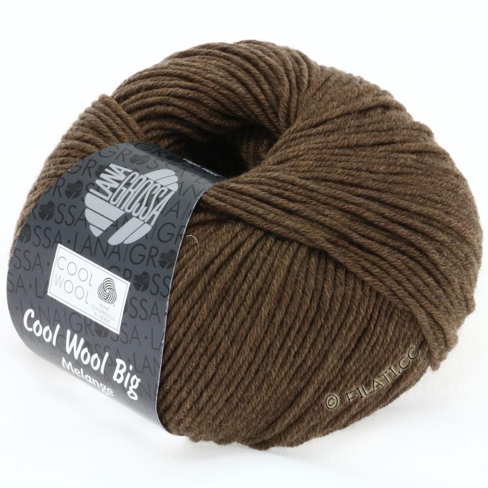 Lana Grossa COOL WOOL Big Uni/Melange/Print   0318-gråbrun meleret
