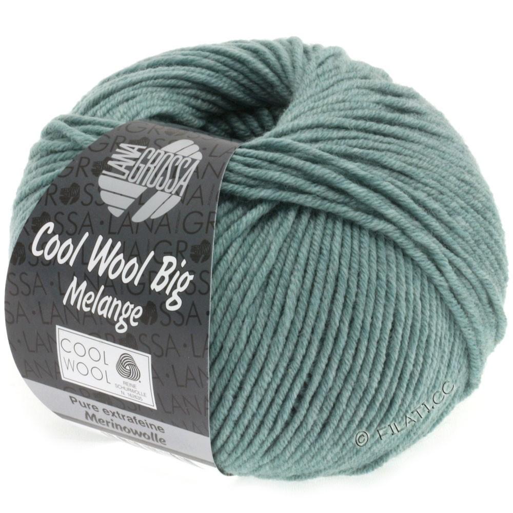 Lana Grossa COOL WOOL Big  Uni/Melange | 0332-grågrøn meleret