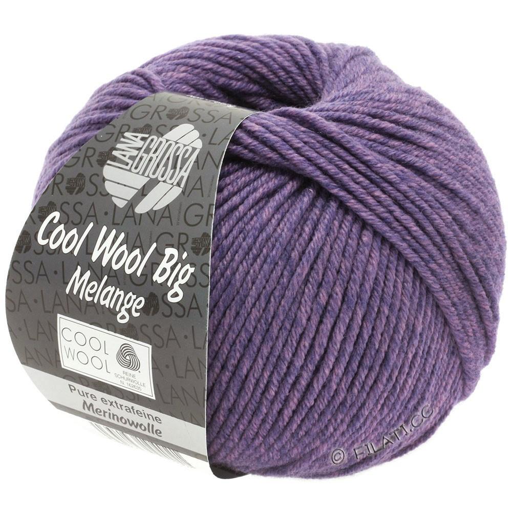 Lana Grossa COOL WOOL Big  Uni/Melange/Print | 0335-lilla/mørk violet meleret