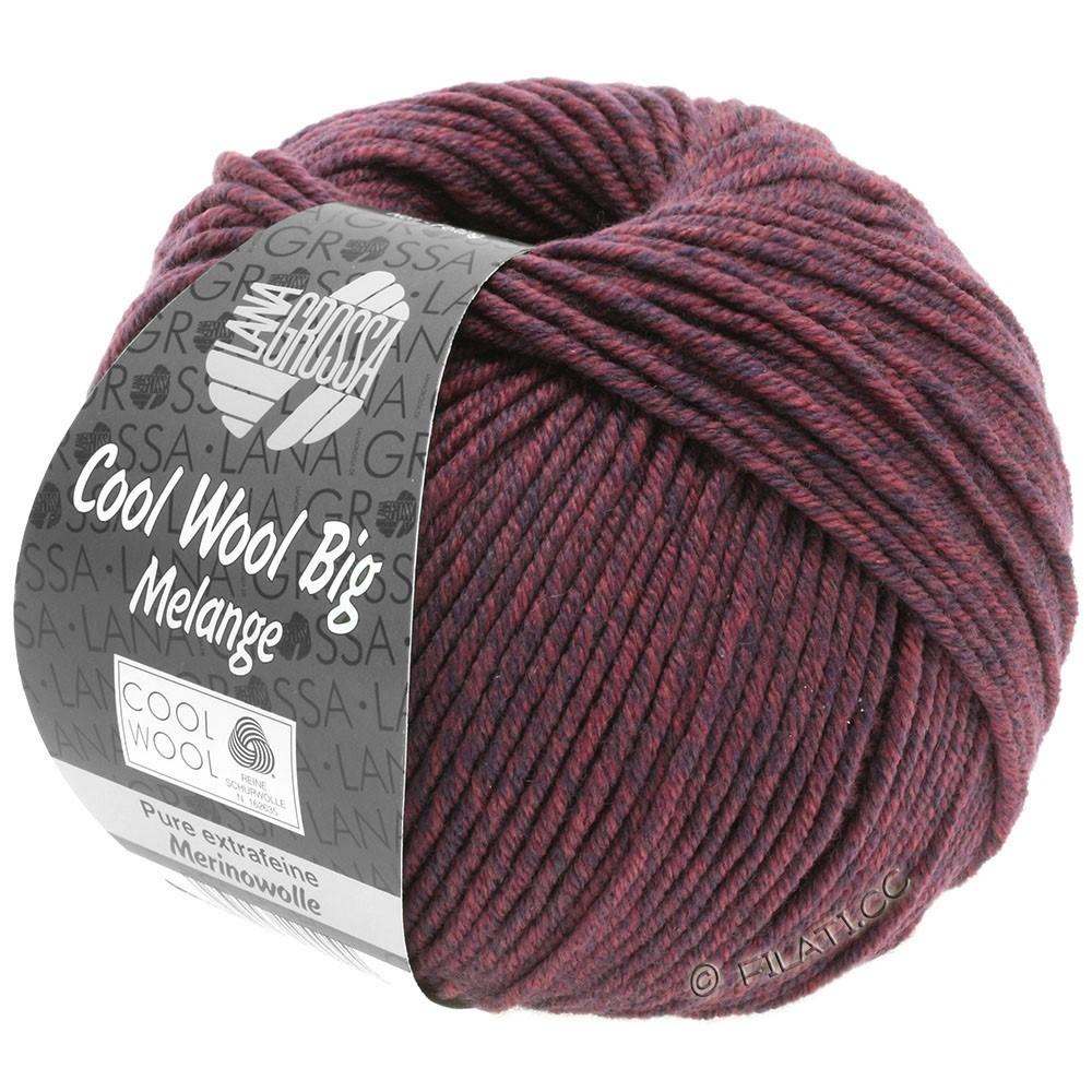 Lana Grossa COOL WOOL Big  Uni/Melange | 0337-mørkeblå/bær meleret
