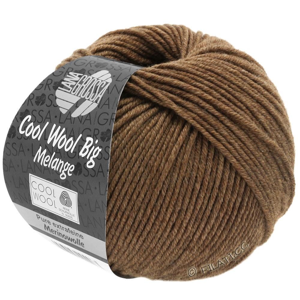 Lana Grossa COOL WOOL Big  Uni/Melange | 0344-brun meleret