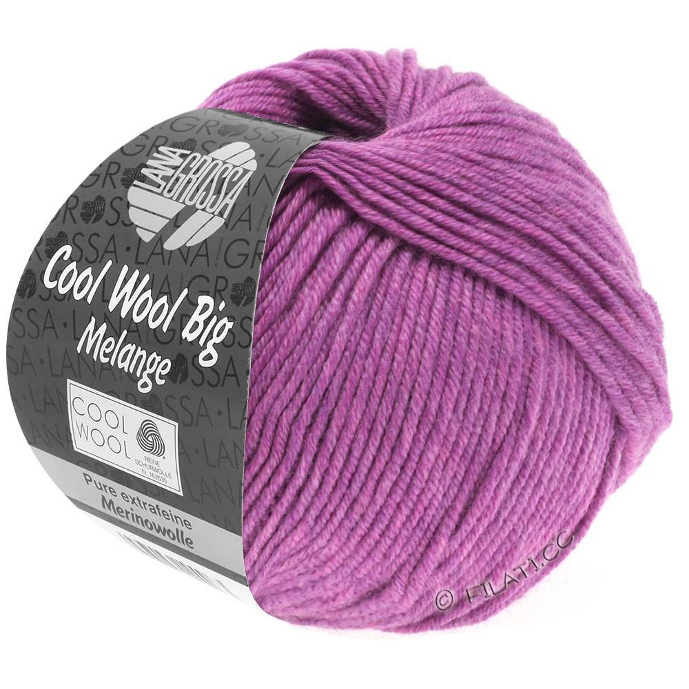 Lana Grossa COOL WOOL Big  Uni/Melange   0351-lilla meleret