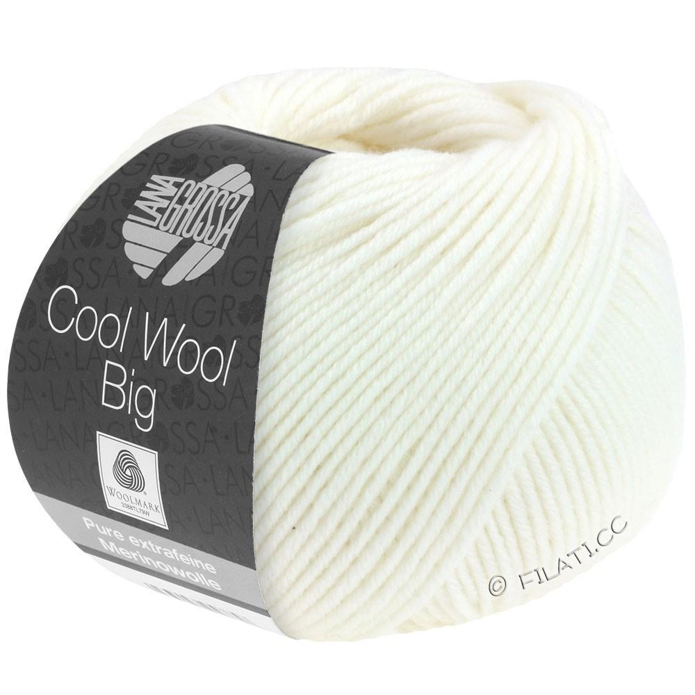 Lana Grossa COOL WOOL Big  Uni/Melange/Print | 0615-hvid