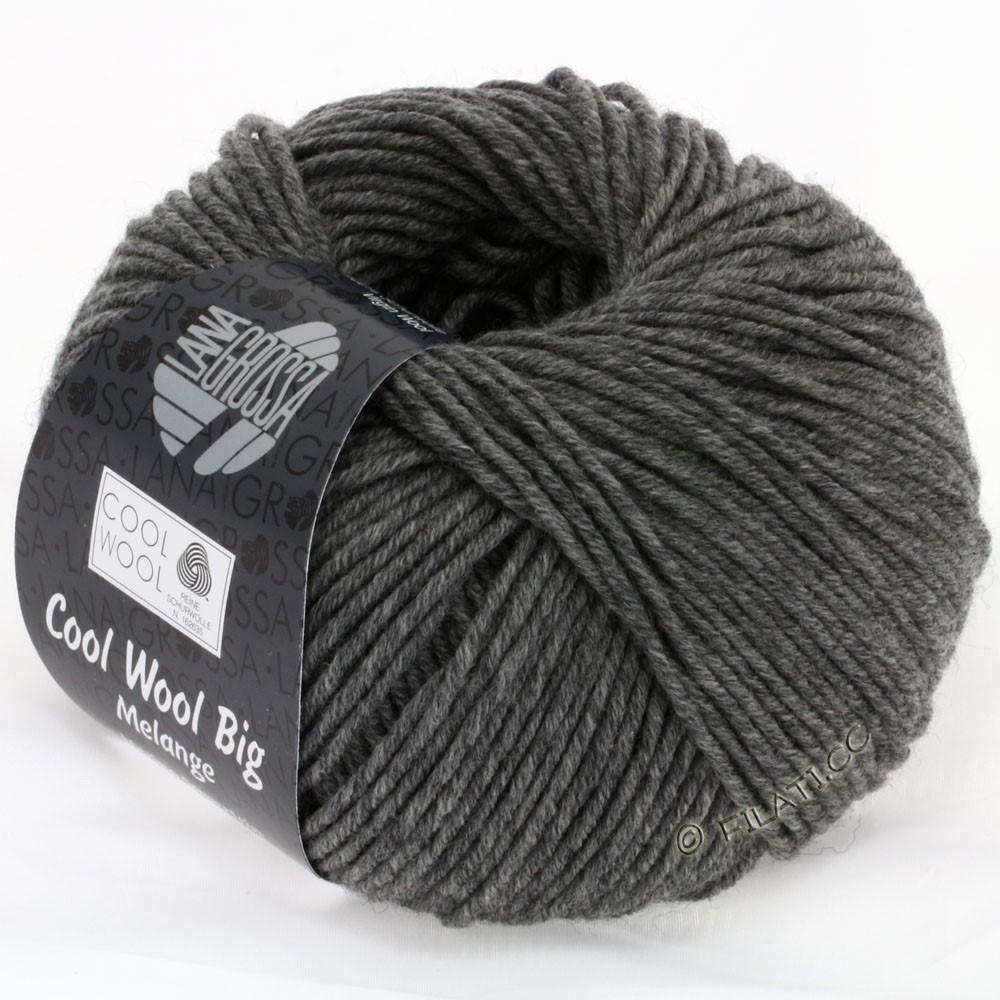 Lana Grossa COOL WOOL Big  Uni/Melange | 0617-mørkegrå meleret