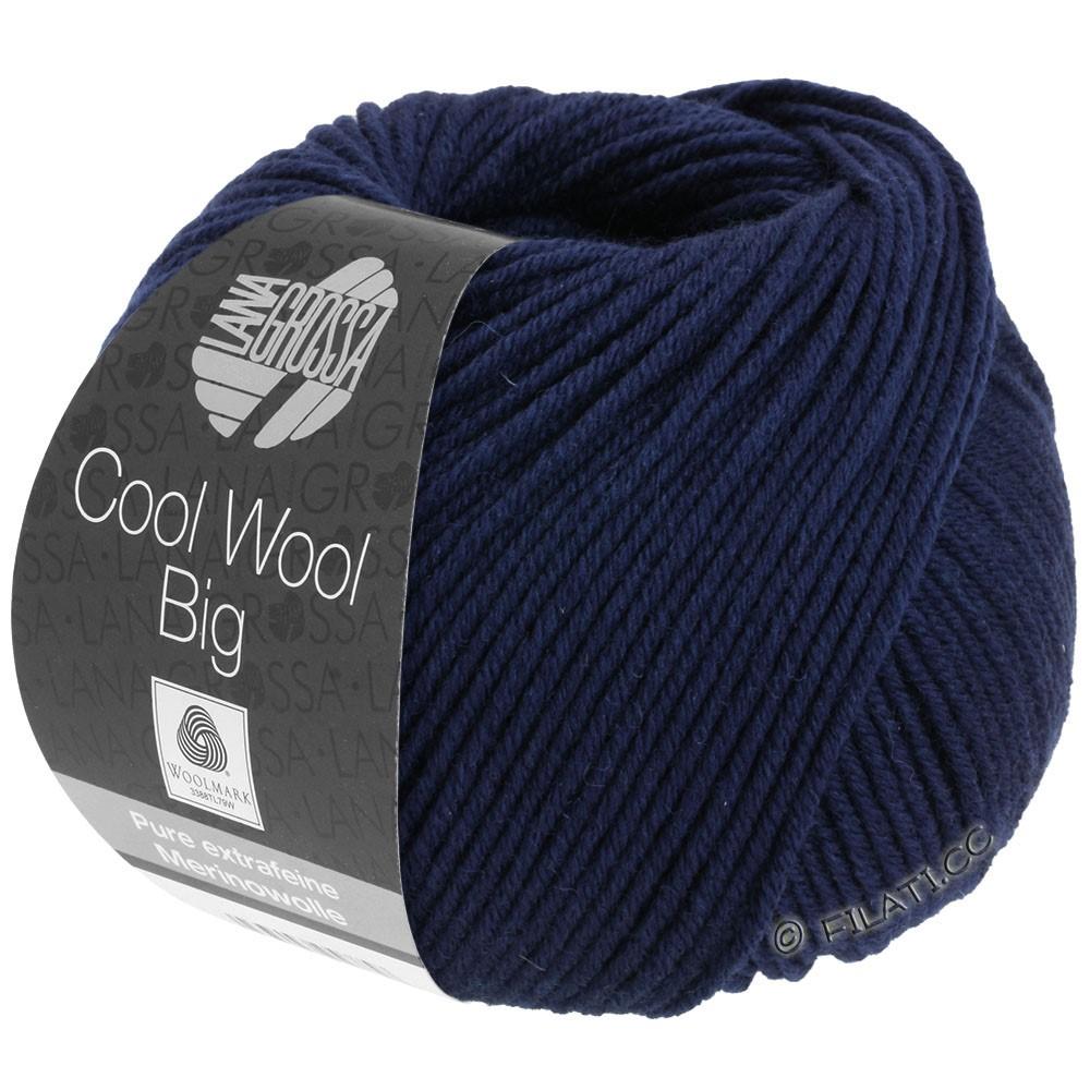 Lana Grossa COOL WOOL Big  Uni/Melange | 0630-natblå