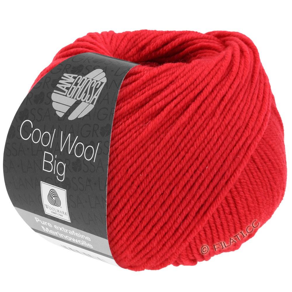 Lana Grossa COOL WOOL Big  Uni/Melange/Print | 0648-karminrød