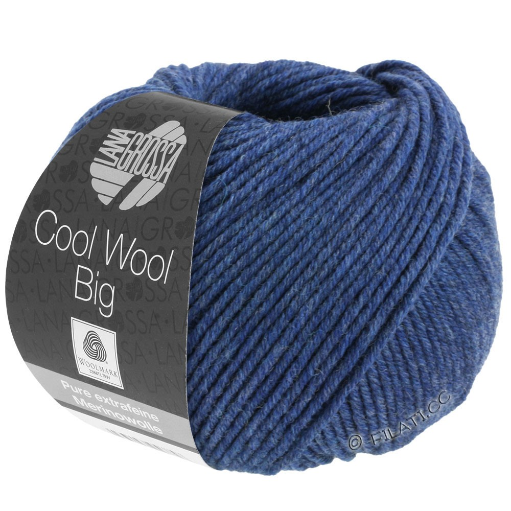 Lana Grossa COOL WOOL Big  Uni/Melange | 0655-mørkeblå