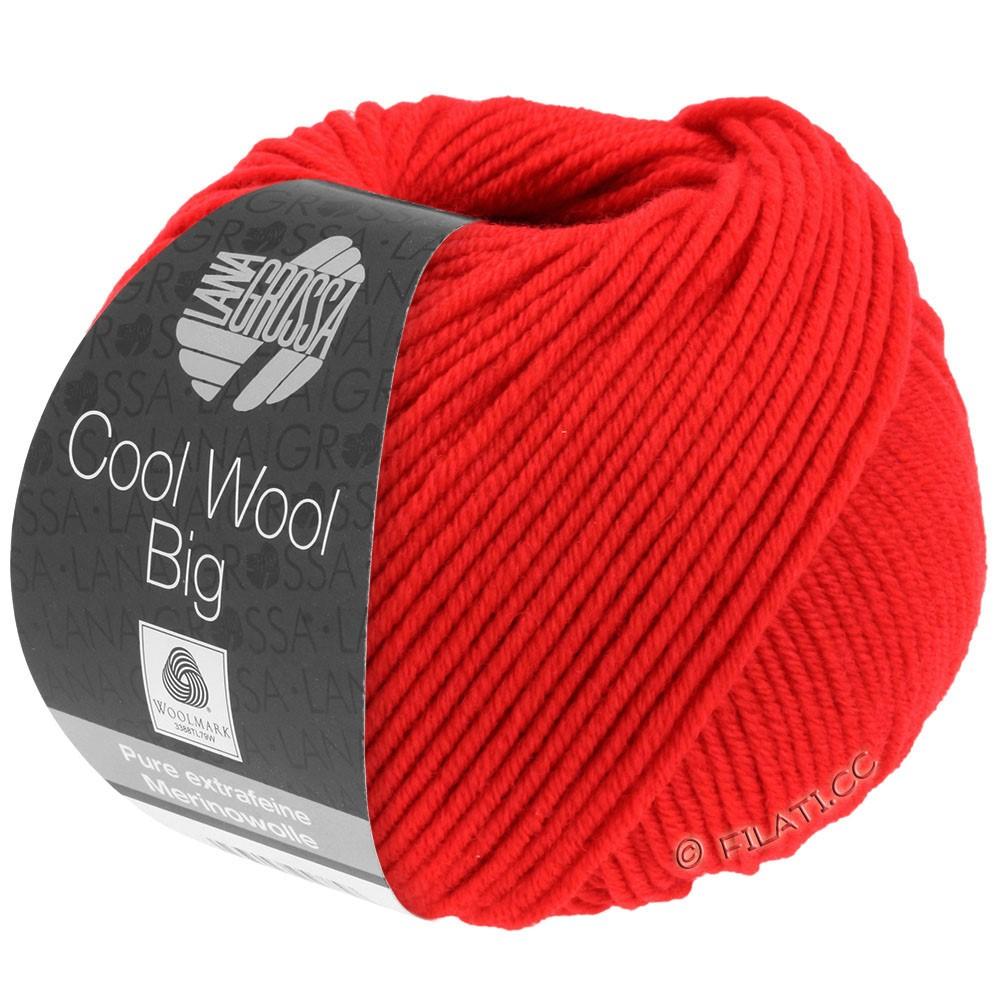 Lana Grossa COOL WOOL Big  Uni/Melange | 0923-refleksrød