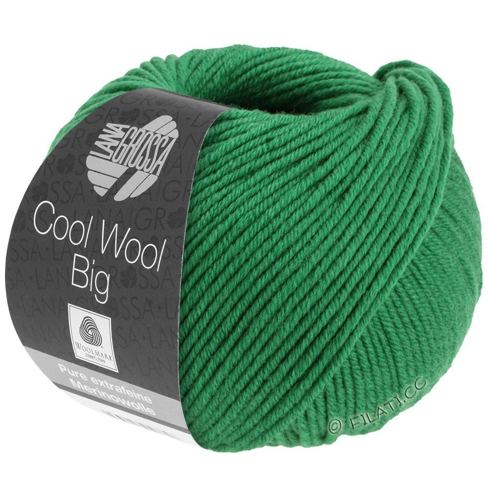 Lana Grossa COOL WOOL Big  Uni/Melange | 0939-mørkegrøn