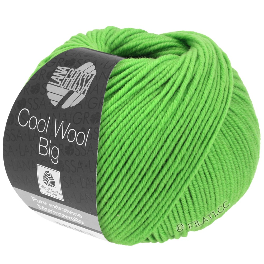 Lana Grossa COOL WOOL Big  Uni/Melange | 0941-lysegrøn