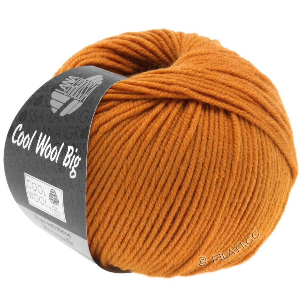 Lana Grossa COOL WOOL Big  Uni/Melange/Print | 0955-orangebrun