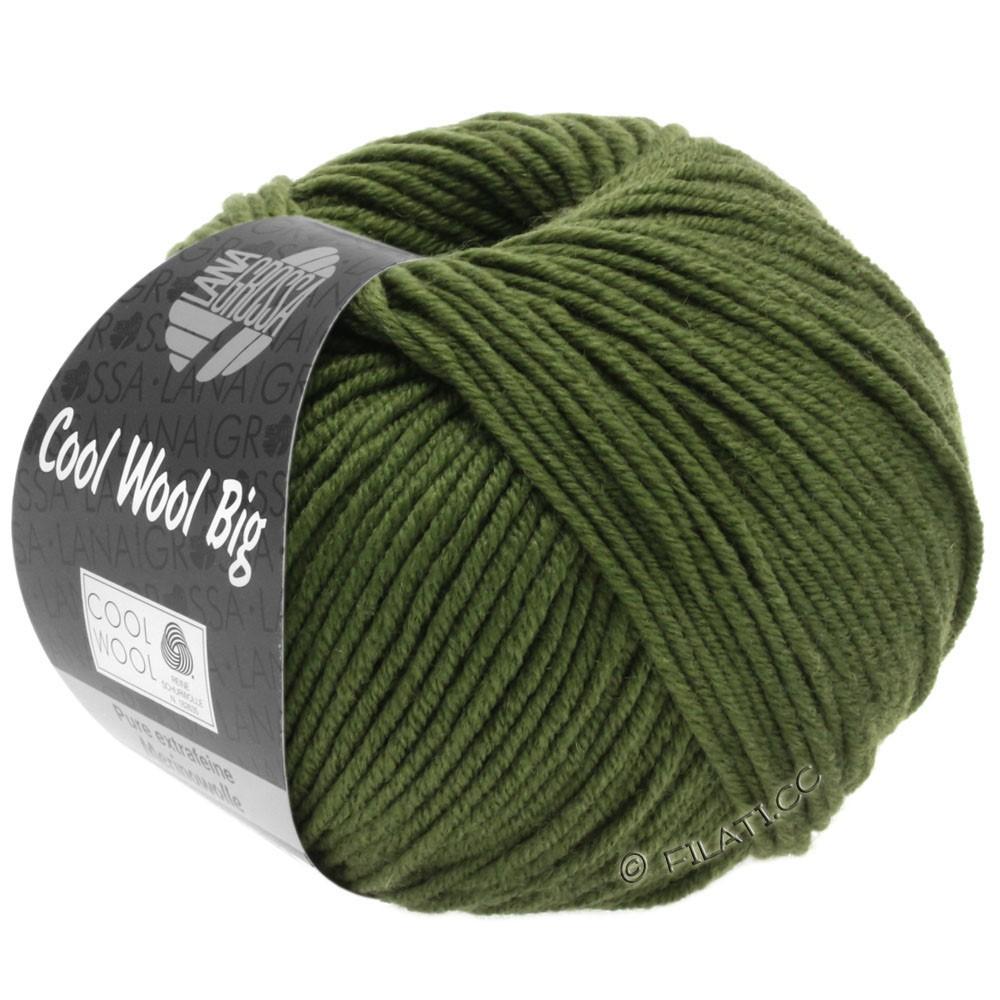 Lana Grossa COOL WOOL Big  Uni/Melange | 0956-mørkoliven
