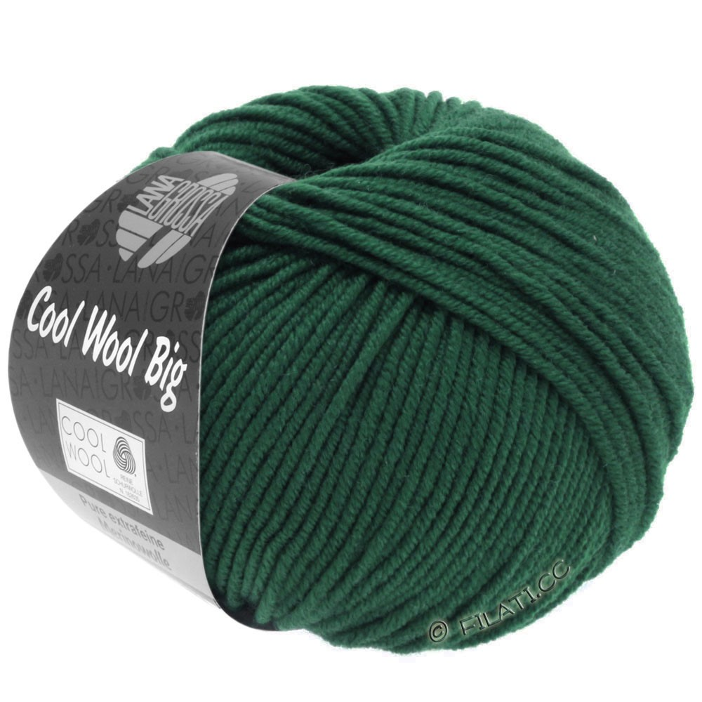 Lana Grossa COOL WOOL Big  Uni/Melange/Print | 0957-sø grøn