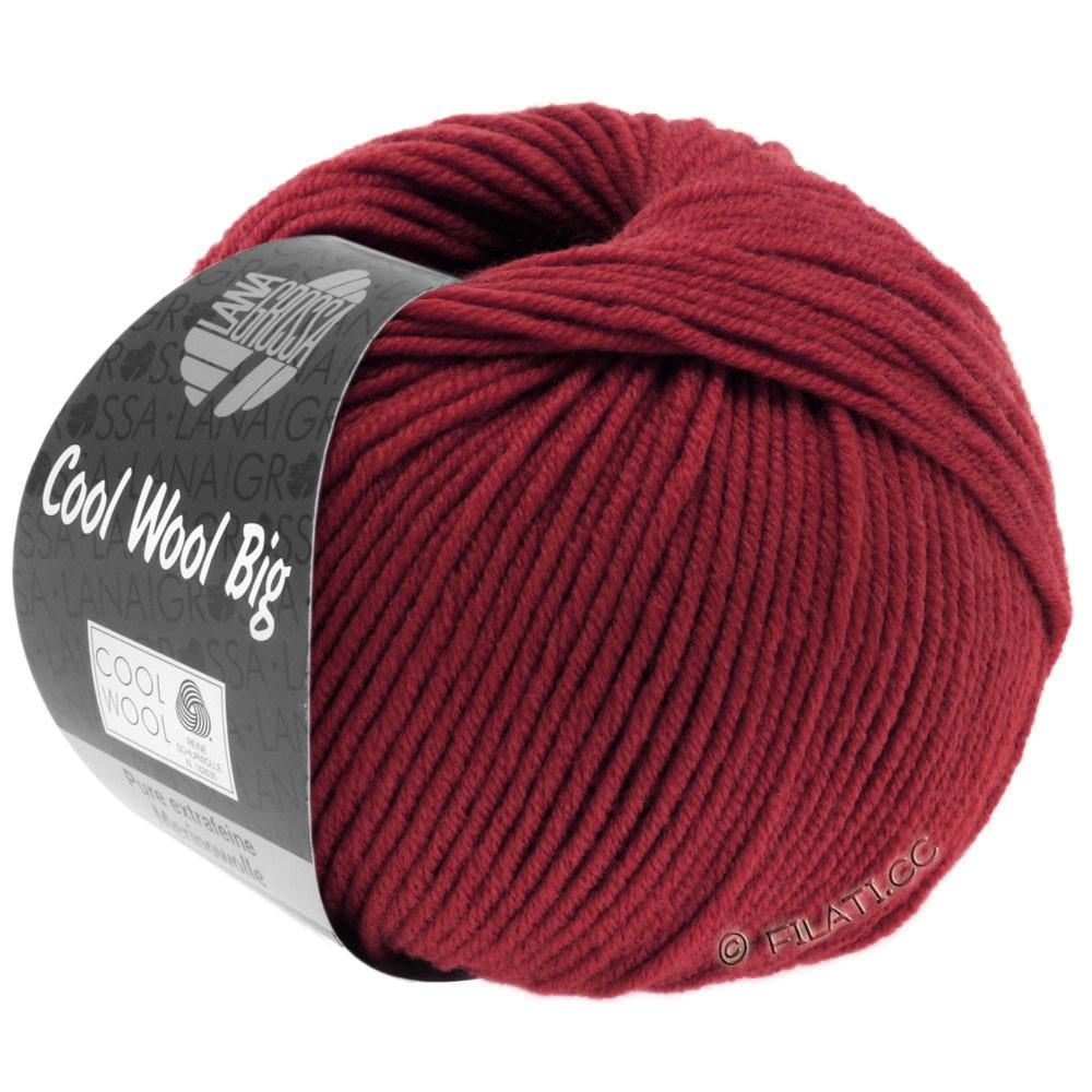 Lana Grossa COOL WOOL Big  Uni/Melange | 0960-vinrød