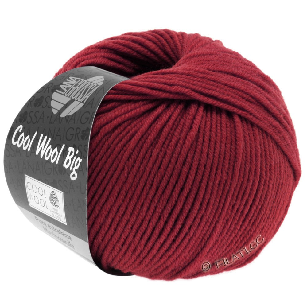 Lana Grossa COOL WOOL Big  Uni/Melange/Print | 0960-vinrød