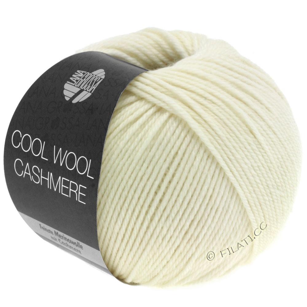 Lana Grossa COOL WOOL Cashmere | 12-rå hvid