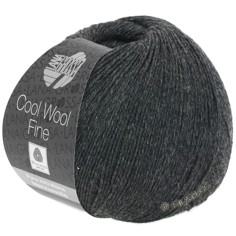 Lana Grossa COOL WOOL Fine | 17-antracit