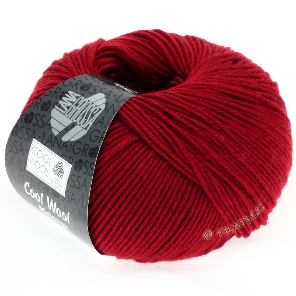 Lana Grossa COOL WOOL  Uni/Melange/Print/Degradé/Neon | 0102-rød meleret
