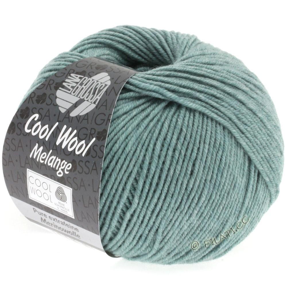 Lana Grossa COOL WOOL  Uni/Melange/Print/Degradé/Neon | 0132-grågrøn meleret