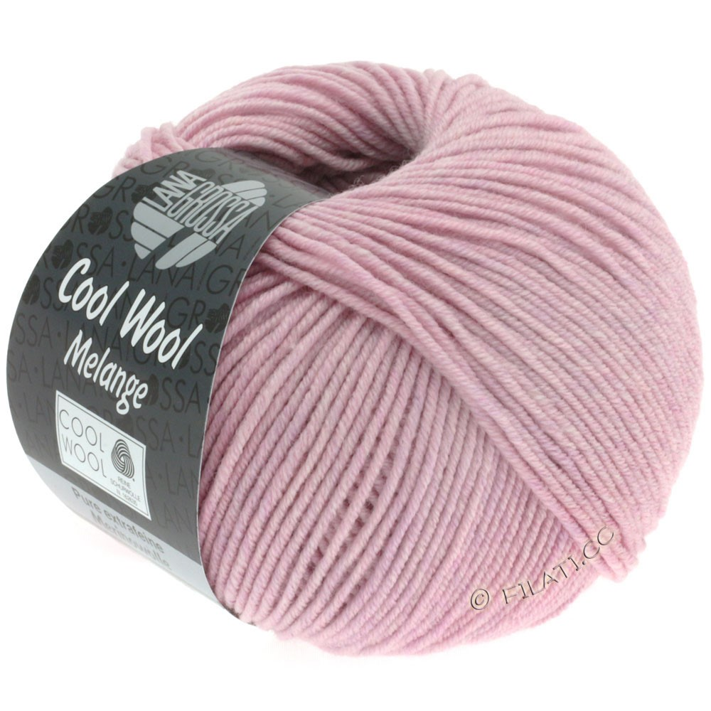 Lana Grossa COOL WOOL  Uni/Melange/Print/Degradé/Neon | 0134-rosa meleret