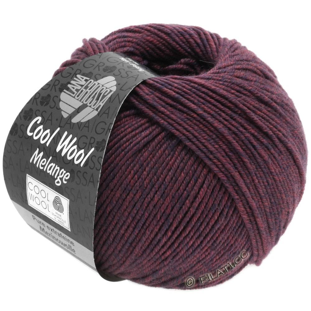 Lana Grossa COOL WOOL  Uni/Melange/Print/Degradé/Neon | 0137-mørkeblå/bær meleret