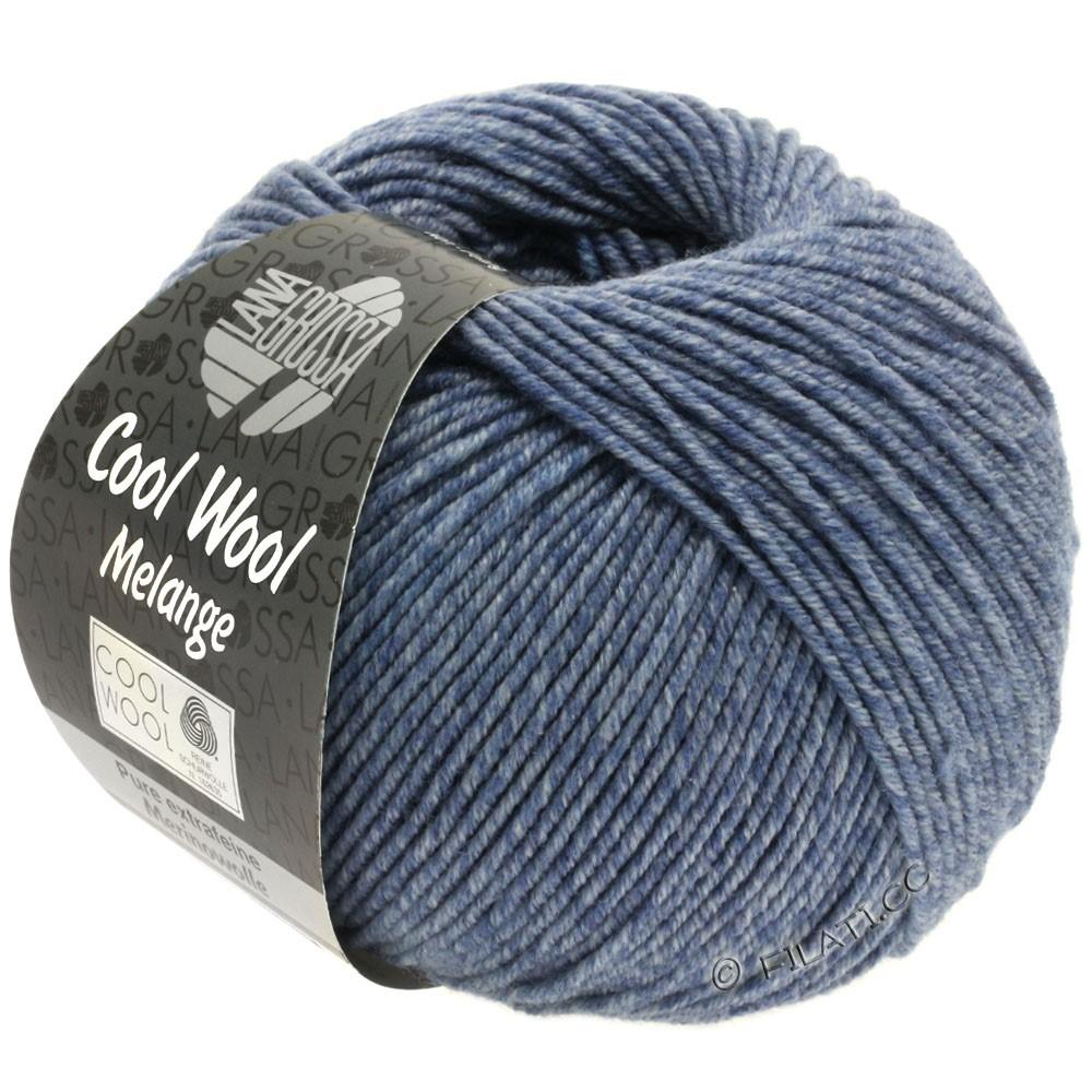 Lana Grossa COOL WOOL  Uni/Melange/Print/Degradé/Neon | 0141-jeans/grå meleret