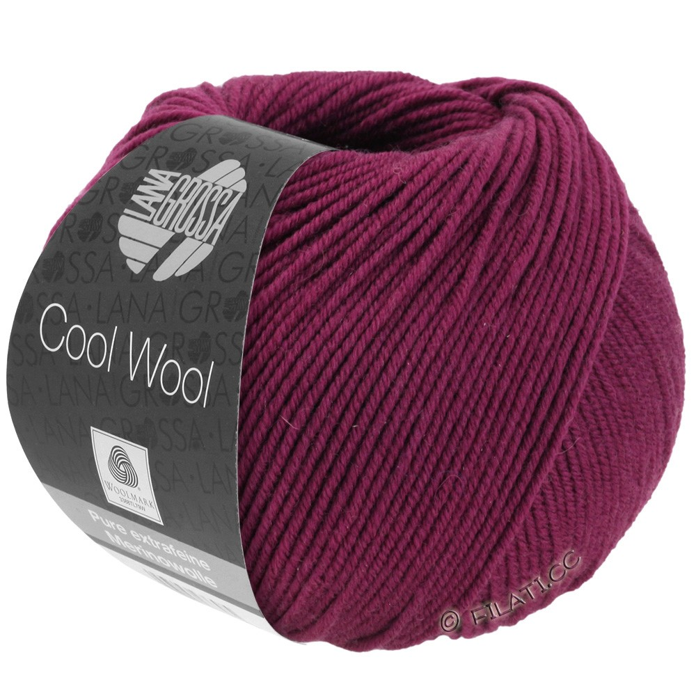 Lana Grossa COOL WOOL   Uni/Melange/Neon | 2012-bordeaux