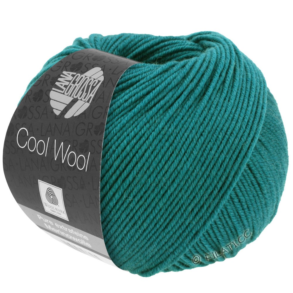 Lana Grossa COOL WOOL  Uni/Melange/Print/Degradé/Neon | 2015-petrol grøn