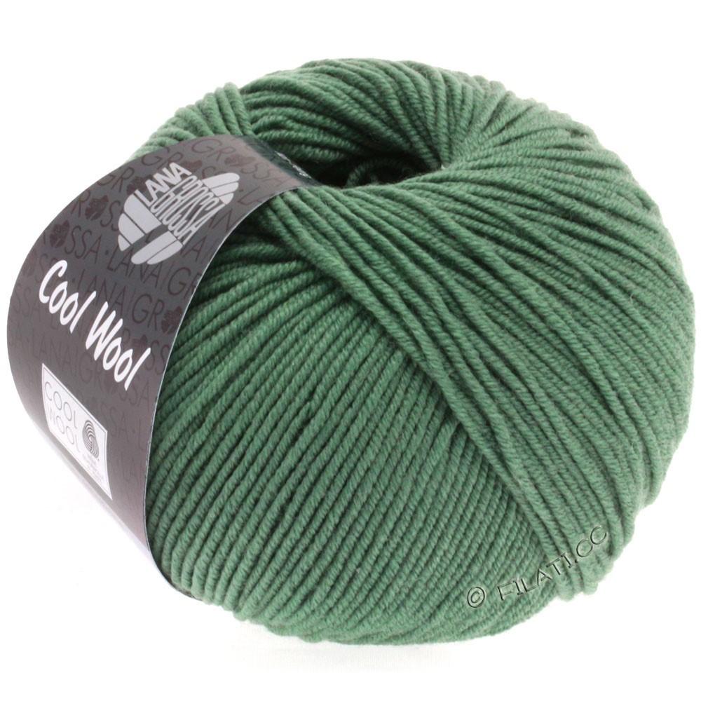 Lana Grossa COOL WOOL  Uni/Melange/Print/Degradé/Neon | 2021-mørkegrå grøn