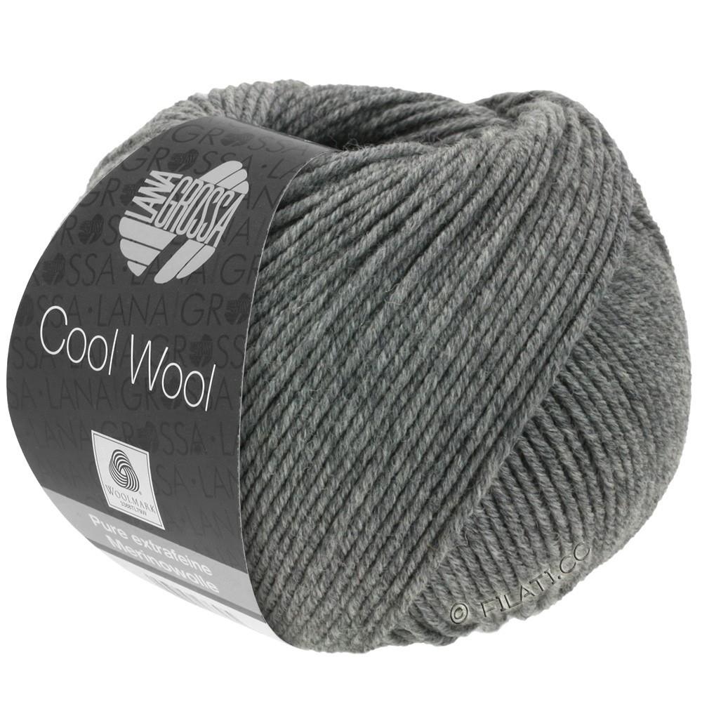 Lana Grossa COOL WOOL  Uni/Melange/Print/Degradé/Neon | 0412-mørkegrå meleret